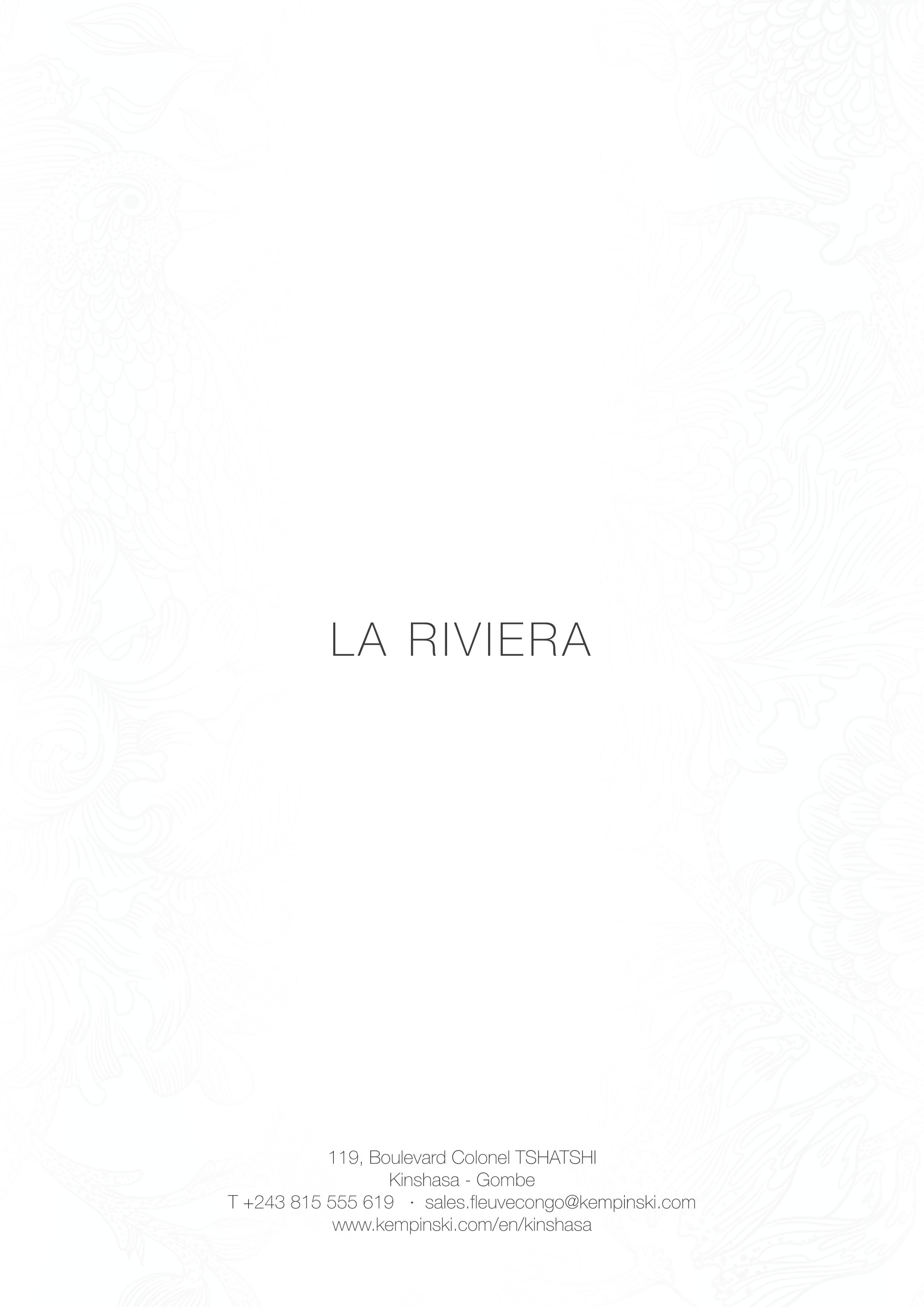 Menu Riviera