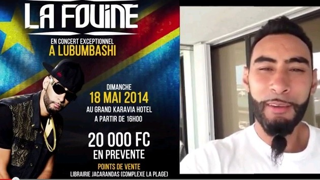 La Fouine annonce son concert a Lubumbashi! - VOILA NIGHT