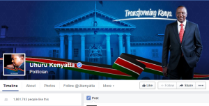 Uhuru Kenyata  facebook cover photo
