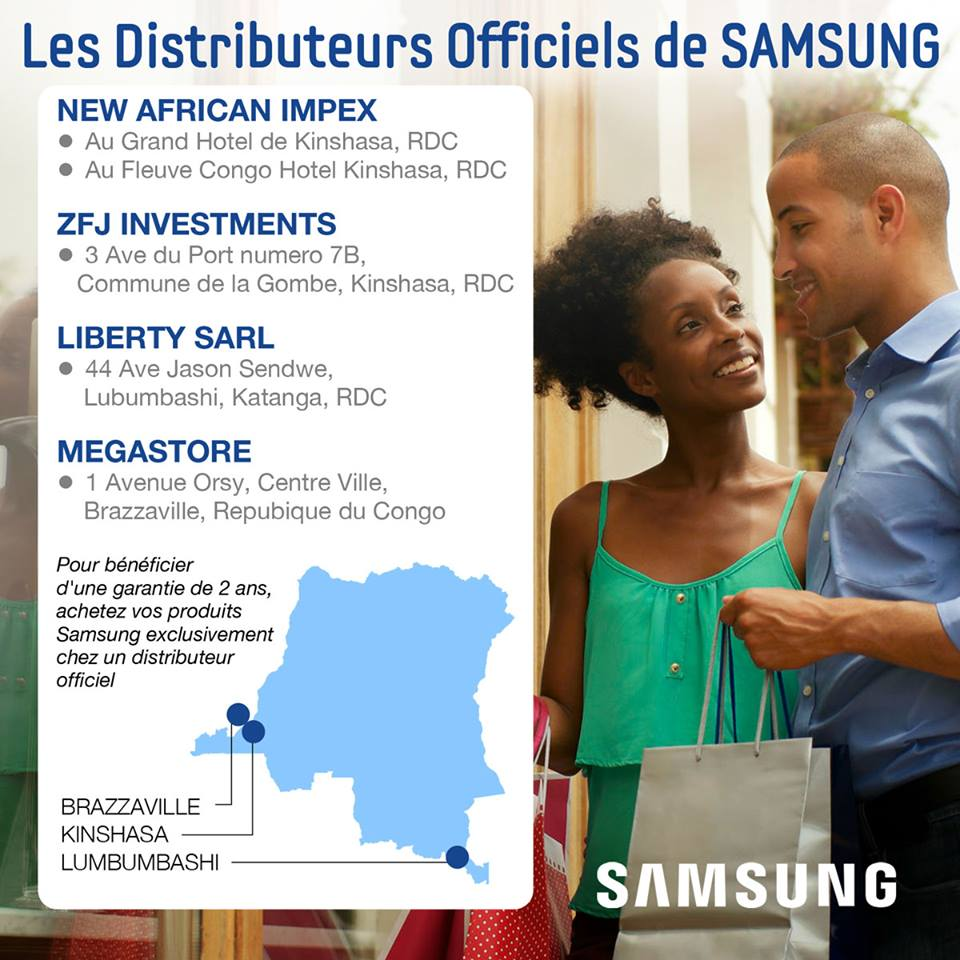 Samsung Distributeur Kinshasa