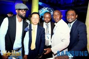 Fally Ipupa au lancement du S7 en RDC