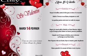 Menu COSY pour la Saint Valentin