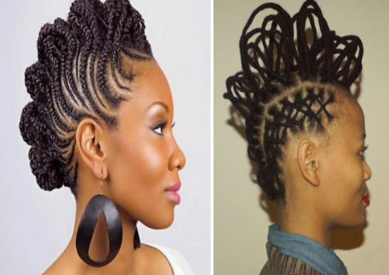 Coiffure femme afro